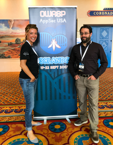 Anne Gauthier and Jonathan Marcil @ AppSec USA, Orlando 2017