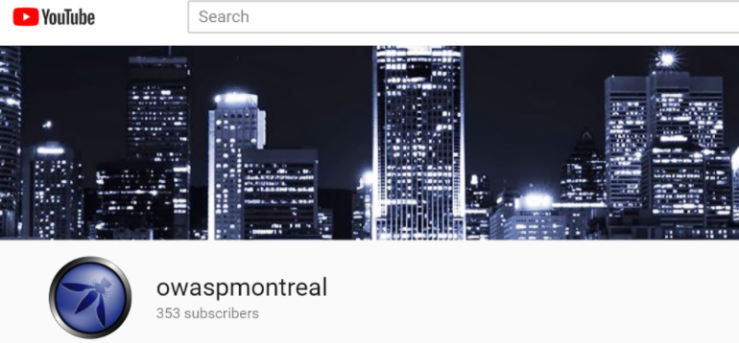 https://www.youtube.com/user/owaspmontreal